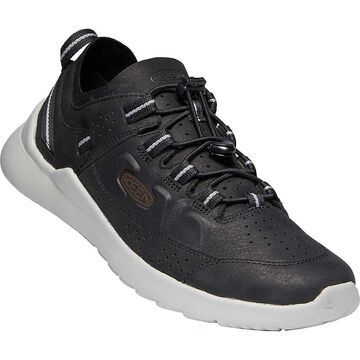 KEEN Men's Highland Suede Low Profile Fashion Sneakers - 9 - New Black / Drizzle