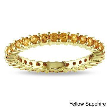 Miadora 14k Gold Gemstone Stackable Eternity Ring