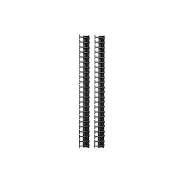 APC by Schneider Electric Vertical Cable Manager for NetShelter SX 600mm Wide 42U (Qty 2) - Black - 2 Pack - 42U Rack Height