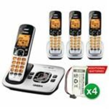 Uniden D1780-4 With additional Battery DECT 6.0 Cordless Phone w/ 3 Ex