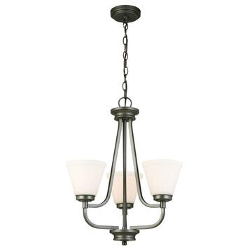 Eglo Mayview 3-Light Chandelier with Graphite Finish