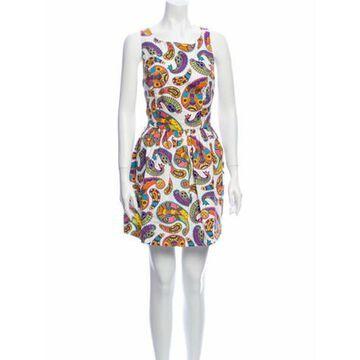 Msgm Printed Mini Dress White Msgm Printed Mini Dress