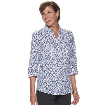 Women's Cathy Daniels Print Roll-Tab Top