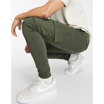 Only & Sons cargo cuffed sweatpants in khaki-Green