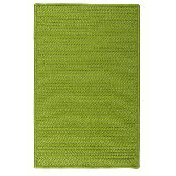 Colonial Mills Simply Home Solid Indoor Outdoor Rug, Green, 12X15 Ft