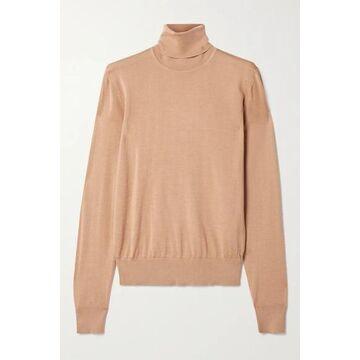 Dolce & Gabbana - Cashmere And Silk-blend Turtleneck Sweater - Tan