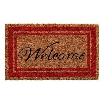 Home & More Border Welcome Doormat