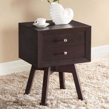 Baxton Studio Warwick Nightstand in Brown
