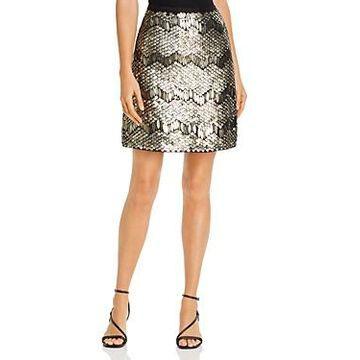 Elie Tahari Venus Deco Sequined Skirt