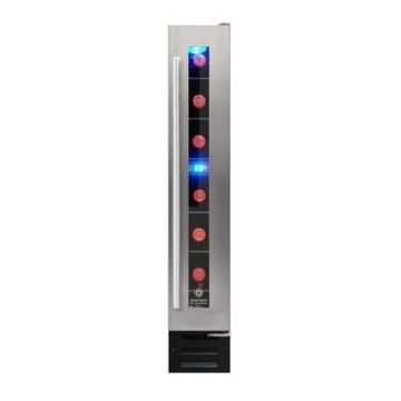 Vinotemp 7 Bottle Touchscreen Wine Cooler, Stainless Steel
