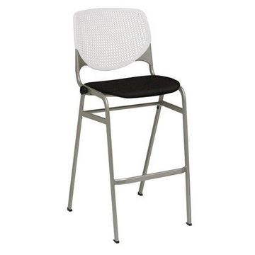 KFI KOOL Armless Stack Barstool with White Back