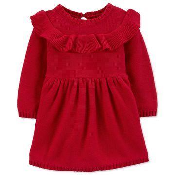 Baby Girls Ruffled Cotton Dress