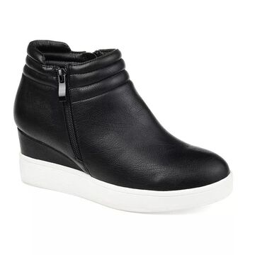 Journee Collection Remmy Women's Sneaker Wedges, Size: 10, Black