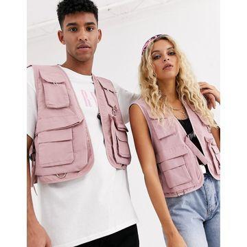 Reclaimed Vintage Unisex vest in pink