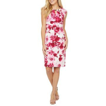Danny & Nicole Sleeveless Floral Sheath Dress