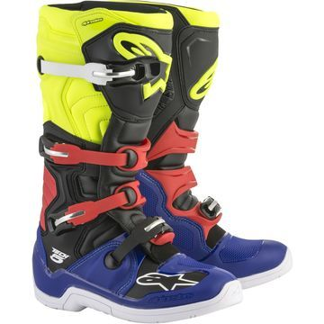 Alpinestars Tech 5 Boots Blue/Black/Yellow Sz 8
