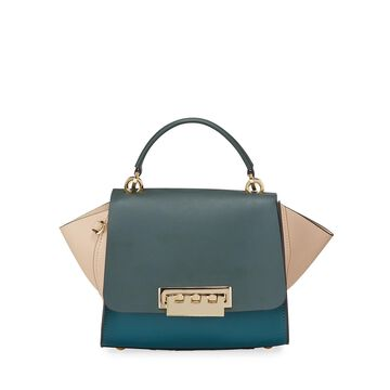 Eartha Two-Tone Leather Top Handle Bag
