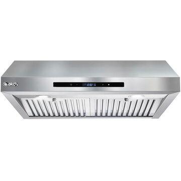 AKDY RH0435 114.33 - 343 CFM 30 Inch Wide Under Cabinet Range Hood Stainless Steel Cooking Appliances Range Hoods Under Cabinet Range Hoods