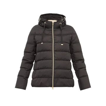 Herno - Zip Through Quilted Down Hooded Jacket - Womens - Black