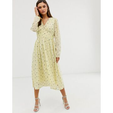 Y.A.S floral long sleeve maxi dress-Multi