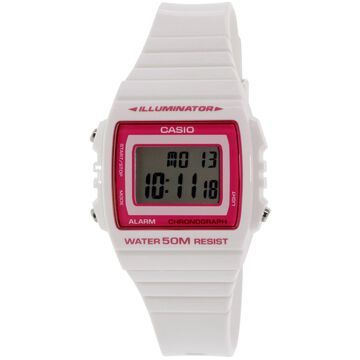 Casio Women's Classic W215H-7A2V White Rubber Quartz Sport Watch
