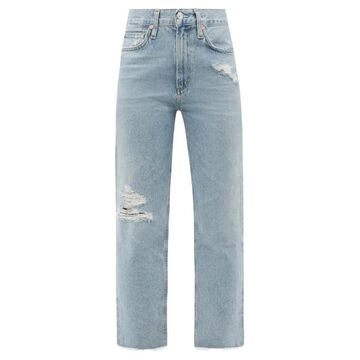Citizens Of Humanity - Daphne High-rise Distressed Cropped-leg Jeans - Womens - Light Denim