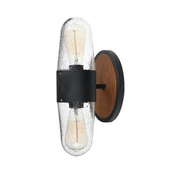 Maxim Lighting Lido 15-in H Antique Pecan/Black Medium Base (E-26) Outdoor Wall Light