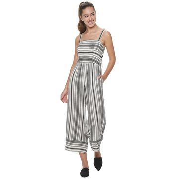 Juniors' Speechless Stripe Jumpsuit
