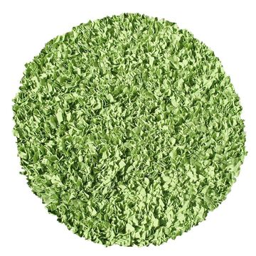 The Rug Market Shaggy Raggy 4 x 4 Lime Round Solid Handcrafted Area Rug in Green   02219R