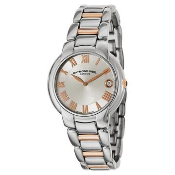 Raymond Weil Women's 5235-S5-01658 Jasmine Silver Dial Two Tone Stainless Steel Watch (Silver)