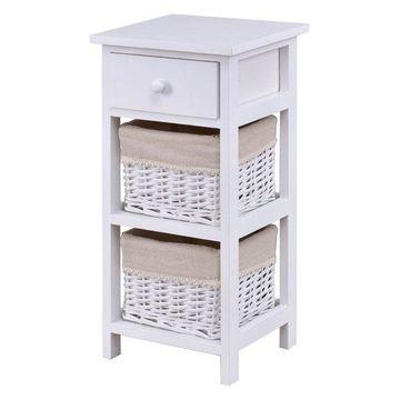 Costway Bedroom Wooden Bedside Table Nightstand Chest Cabinet