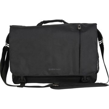 Heritage Modern Compass Dual Compartment Flapover 15.6