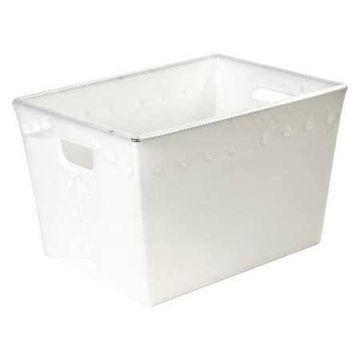 BOX PARTNERS BINS188 Space Age Totes, 23'' x 15'' x 16'', White, PK6