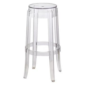 Fine Mod Imports Clear Barstool, Clear