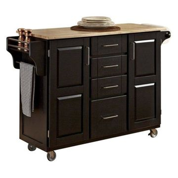 Home Styles Kitchen Cart in Black