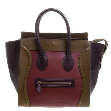 Celine Tri Color Leather Mini Luggage Tote