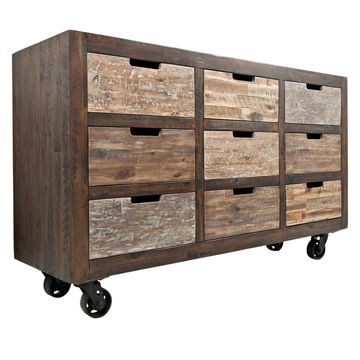 Jofran Painted Canyon 9 Drawer Decorative Accent Chest