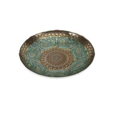 Imax Paisley Glass Bowl