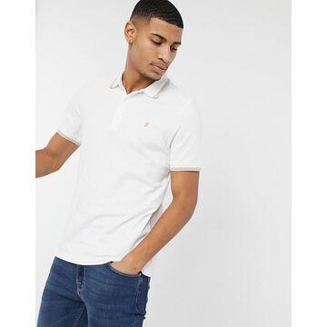 Farah hippie polo shirt-White