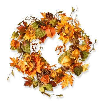 National Tree Company Sunflower Wreath