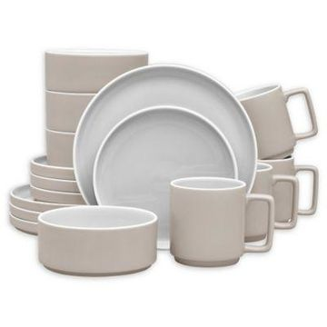 Noritake ColorTrio Stax 16-Piece Dinnerware Set in Sand