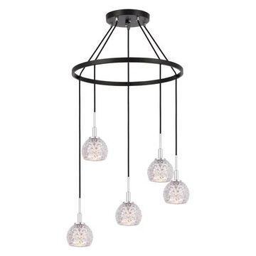 Woodbridge Lighting Elise Chandelier, Mercury Crystal Ball