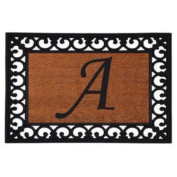 Home & More Monogram Insert Doormat