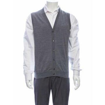 Wool V-Neck Sweater Vest Wool