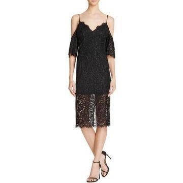 Bardot Womens Karlie Lace Sheath Cocktail Dress