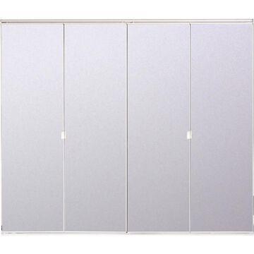 ReliaBilt Reliabilt White Mirror Bifold Door Hardware Included (Common: 36-in x 80-in; Actual: 36-in x 78.56-in)