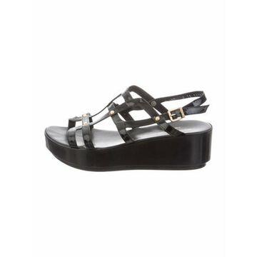 Patent Leather Gladiator Sandals Black
