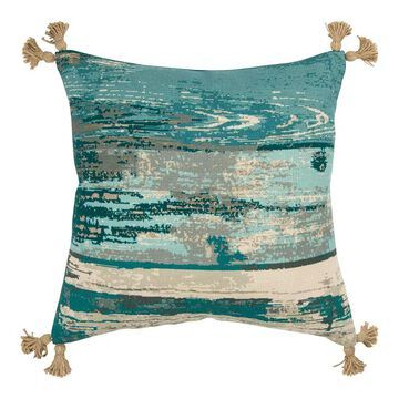 Rizzy Home Andrea Down Fill Throw Pillow, Green, 20X20