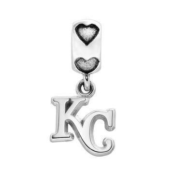 LogoArt Kansas City Royals Sterling Silver Team Logo Charm, Women's, Grey