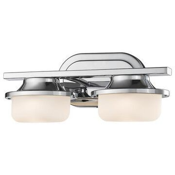 2 Light 14 Wide 8 Watt LED Bathroom Vanity Light with Matte Opal Glass